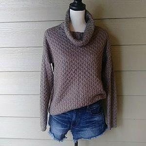 Cowl neck knit sweater size medium